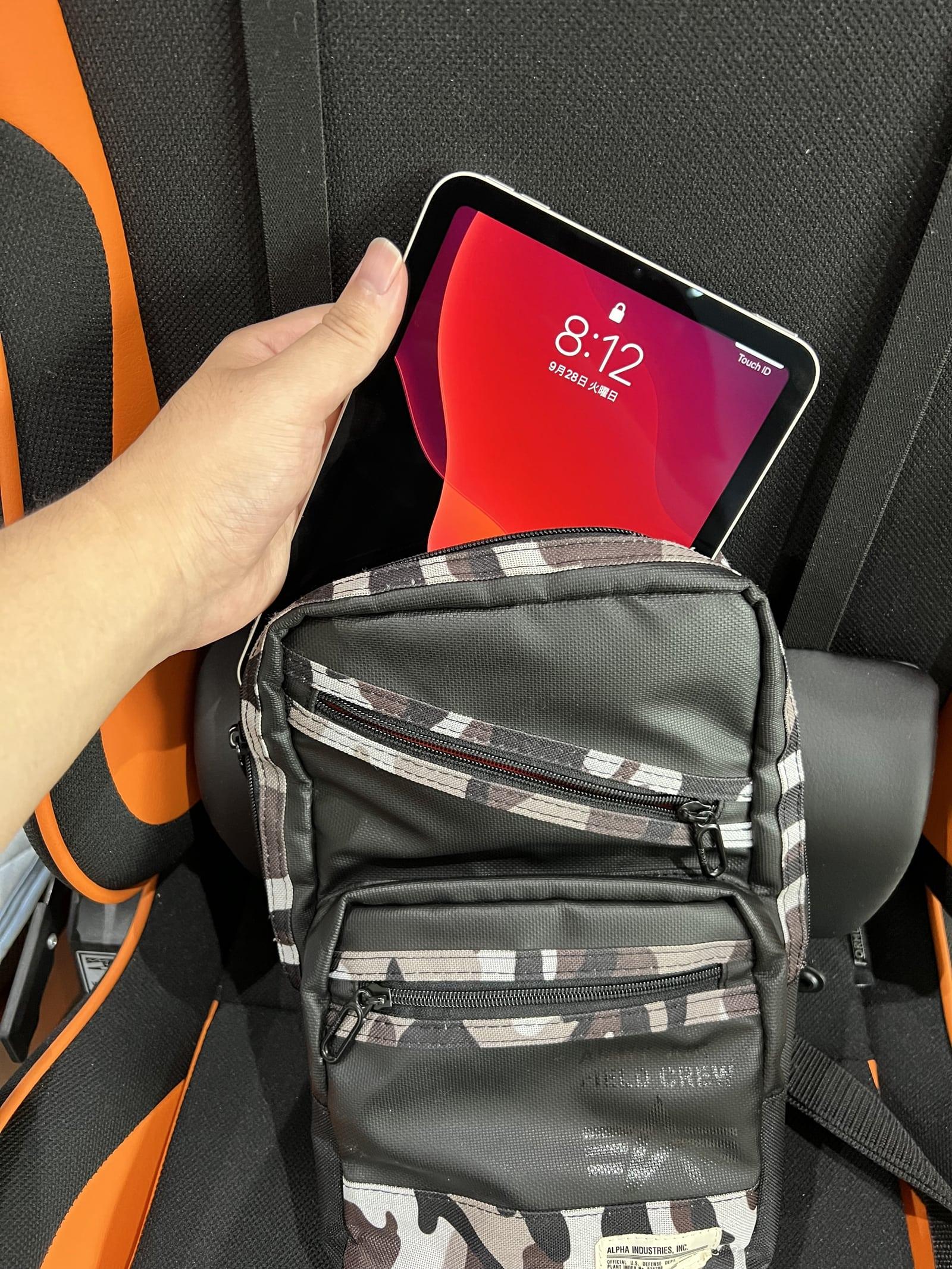 ボディバッグに入れて持ち運びたい人はiPad mini